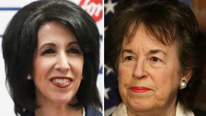 County executive candidates Cheryl Dinolfo, left, and Sandra Frankel.
