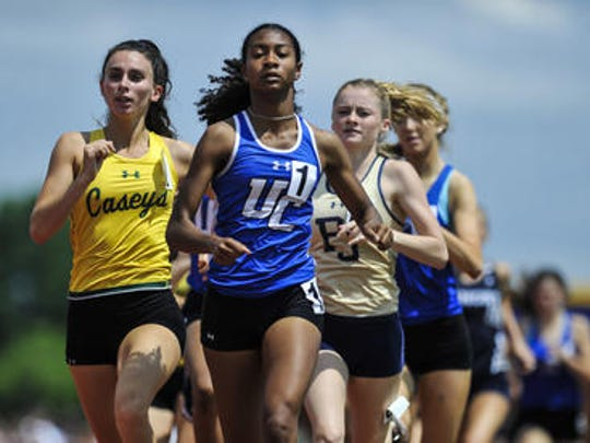 Leena Morant of Union Catholic competes in the 800-meter run during the NJSIAA Group I, IV and Non-Public A Track and Field Championships on Saturday, June 2 at Franklin High School.
