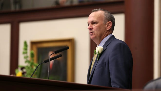 House Speaker Richard Corcoran said state authority to preempt local ordinances is based on his reading of the founding father's intentions and the U.S. Constitution.