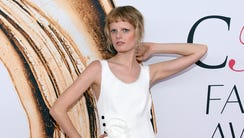 Hanne Gaby Odiele arrives at the CFDA Fashion Awards
