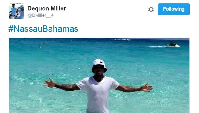 Dequon Miller was able to enjoy life in the big water.