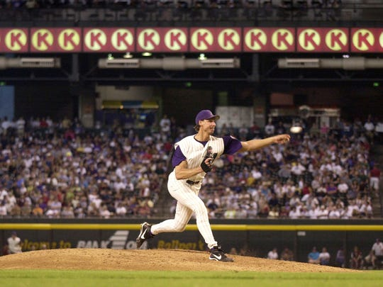Randy Johnson had 17 strikeouts in a 2002 game against Milwaukee.