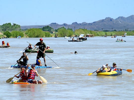 The Rio Grande may not always look very full, but in 2011 it was overflowing with laughter, smiles and about 140 participants in rafts made from buckets, Styrofoam, wading pools and plywood for the 11th annual Raft the Rio event.