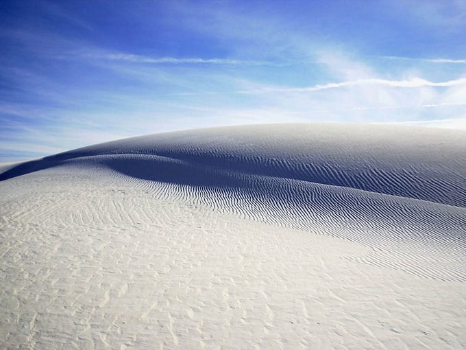 Gypsum sand dunes at the northern tip of the Chihuahuan