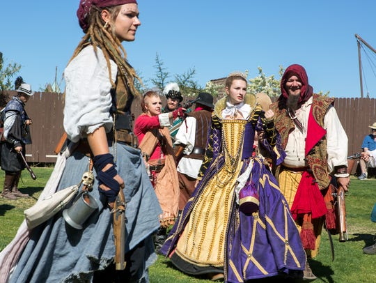 Actors perform at the Arizona Renaissance Festival