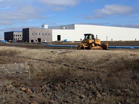 Construction continues at the Henningson Cold Storage at Mill Creek Corporate Center on Kuebler Blvd. and Turner Rd. SE in Salem on Friday, Feb. 17, 2017.