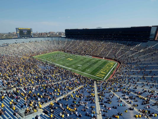 NCAA Football: Michigan Spring Game, overview of Michigan Stadium
