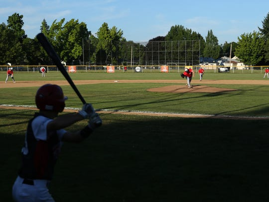 The Perth Colts vs. North Salem baseball game in the Wood Bat Classic, a tournament hosted by North Salem with other Oregon teams and two teams from Australia, at Schaefer Stadium in Salem on Friday, July 7, 2017.