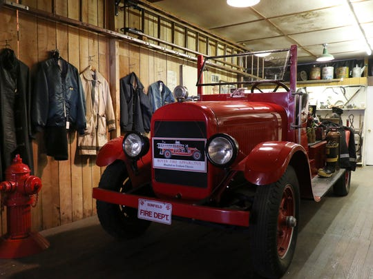 A re-creation of the fire department with donated memorabilia
