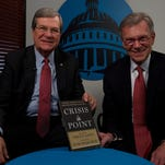 "Trent Lott and Tom Daschle have co-authored ""Crisis Point: Why We Must — and How We Can — Overcome Our Broken Politics in Washington and Across America."""