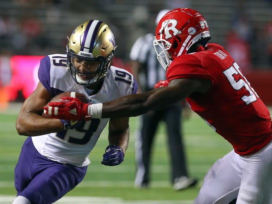 Washington tight end Hunter Bryant, who saw extensive