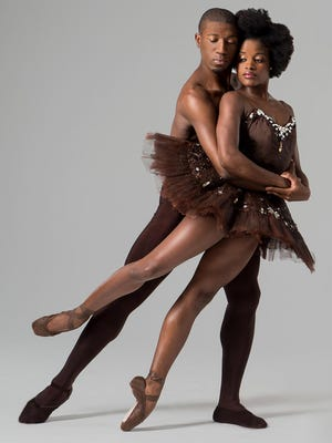 Dancers Ingrid Silva and Da'Von Doane perform with the Dance Theatre of Harlem.