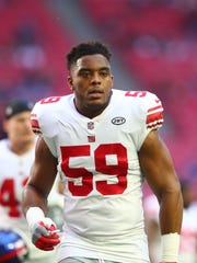 LB: Devon Kennard. Age: 27. 2017 stats with N.Y. Giants: 15 games, 41 tackles, 4 sacks.