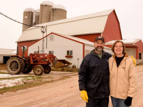 Owner's Steve and Mary Leitner pose in front of their