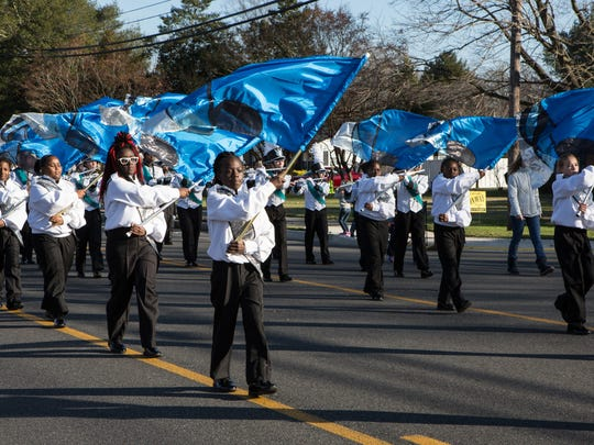 Members of the Salisbury Middle School color guard
