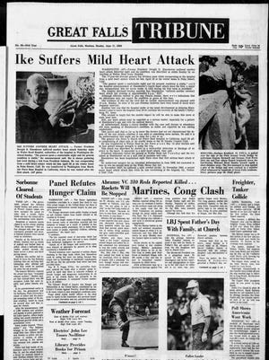 Front page of the Great Falls Tribune on Monday, June 17, 1968.