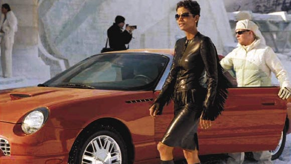 This coral Thunderbird is driven by Halle Berry's character
