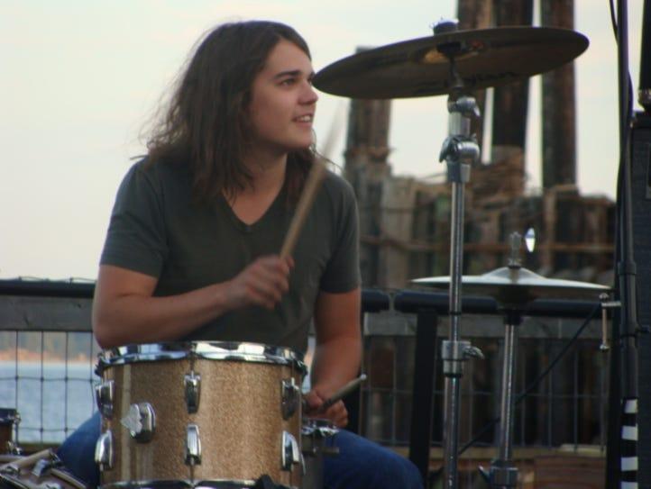Nashville drummer Ben Eyestone performing at a gig