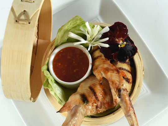 Chef Clay Slieff of Bistro Napa is sending out Asian grilled chicken wings stuffed with shrimp and heritage pork for A Toast & Taste of Summer, a June 4 benefit at the Atlantis for the Nevada Diabetes Association.