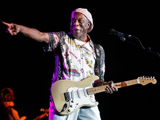 Blues great Buddy Guy, seen performing at Fantasy Springs Resort Casino as part of Jimi Hendri tribute, will headline the Saturday Wedbush Garden Jam at the Indian Wells Tennis Garden.