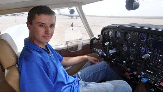 Sixteen-year-old Payson Norton flew his aircraft solo for the first time last week (April 7). Norton's instructor, Jim Ballard, said he is his third student to fly solo at the minimum age.