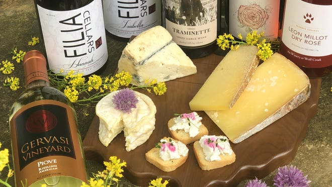 Ohio wines from Gervasi Vineyards, Filia Cellars, Troutman Vineyards, Michael Angelo's Winery and the Winery at Wolf Creek are paired with local artisanal cheeses from Old Forge Dairy, Yellow House Cheese, and Mackenzie Creamery.