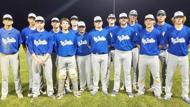 The New Franklin Bulldogs baseball team captured the championship in the Central Activities Conference Friday night by beating the Pilot Grove Tigers 3-0.