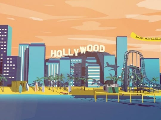 "Animated film ""This is California."""