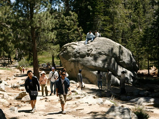 The Palm Springs Aerial Tramway is a popular draw for spring break vacationers.