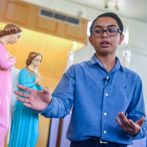 Teenage boy restores old statues, shares love of Catholic faith