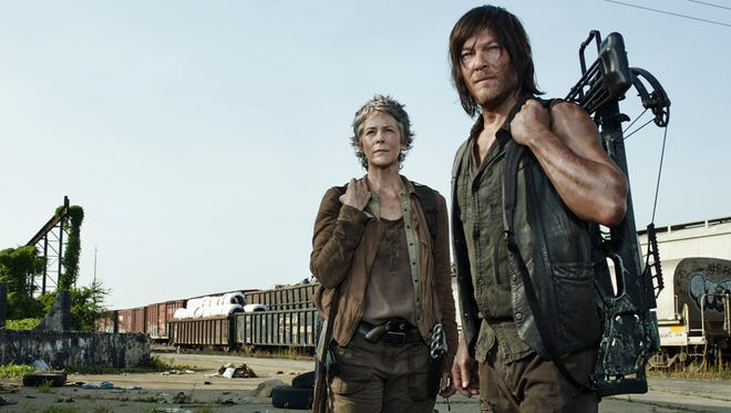 """""""The Walking Dead,"""" with Melissa McBride  and Norman Reedus, heads into its midseason finale."""