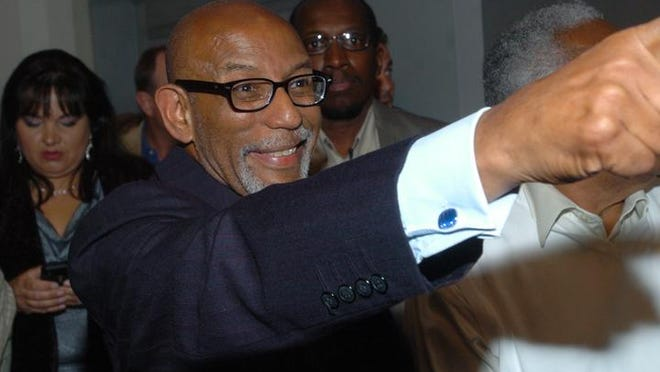 Elbert Guillory acknowledges his supporters while watching results of his 2011 election for state senator. Guillory is leaving the Senate to run for lieutenant governor.