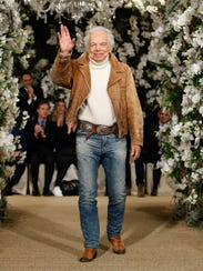Designer Ralph Lauren at his flagship store in New