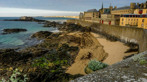 The walls of St. Malo.