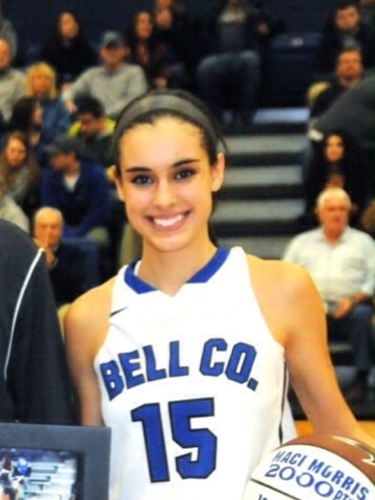 Maci Morris, Bell County 6-0 Junior 22.1 ppg.