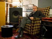 Dickie Landry, Lafayette musician and photographer, speaks about his works from his apartment in downtown Lafayette on Jan. 3.