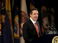 In this file photo, Gov. Andrew Cuomo delivers his annual State of the State address at the Empire State Plaza Convention Center on Jan. 8 in Albany.