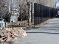 A large fence has been placed around the Arboretum at Rancho San Rafael Park.  Marilyn Newton/RGJ
