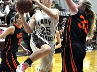 Beech's McKenna Taylor scores two of her six points during the Lady Bucs' 60-38 win over Station Camp Friday.