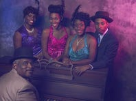 "Cast of the Henegar Center's production of ""Ain't Misbehavin' "" includes LeRoy Darby at piano, Precious Evans, Angie Harper, Shari Milian and Felander Stevenson."