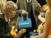 Coach Lisa Bluder and the Iowa Hawkeyes topped Ohio State Sunday afternoon, leading most of the Big Ten Conference game.