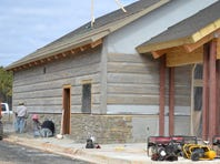 The welcome center at M uddy Bottoms ATV & Recreation Park, currently under construction, will be fully digital so visitors can check in quickly. The park is planning a Memorial Day weekend opening.