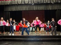 "Students rehearse for the musical ""Grease,"" to be held at Anchorage School Auditorium on Thursday through Sunday."