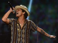 "Bruno Mars' near double platinum album, ""Unorthodox Jukebox,"" is nominated for four Grammy Awards."
