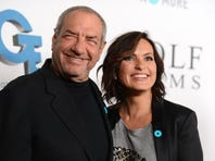 "Dick Wolf, left, and actress Mariska Hargitay from ""Law & Order: Special Victims Unit"" arrive Sept. 26 at JoyROCKS launch of the No More PSA Campaign in Los Angeles."