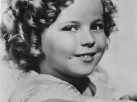 Then 8, Shirley Temple is pictured in 1936.