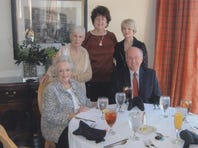 Members of the Northeast Rose Society enjoyed a luncheon in honor of guest speaker Peggy Martin. Pictured, from left, are Carol Parsons, Adele Ransom, Martin, Lou Jones and Ed Avery.