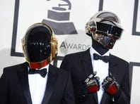 Daft Punk arrives Sunday at the 56th annual Grammy Awards.