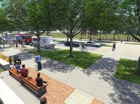 This view shows what a pedestrian and food truck area would look like on Lincoln Avenue. The city of Fort Collins is working on a development plan for the Lincoln corridor to improve the street and intersections and add sidewalks, bike lanes, pedestrian areas and landscaping to help it serve as a gateway to Old Town.