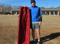 To prepare for the Iditarod Trail Invitational, Peter Ripmaster has been averaging 50 miles a week. He hauls his 60-pound sled for about half of those miles.